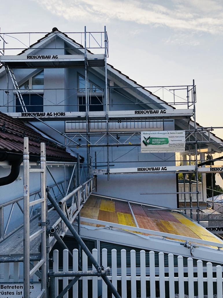 Fassaden streichen in Winterthur - Honegger & Sutter